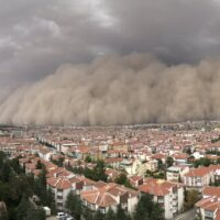 Ankara polatlı kum fırtınası